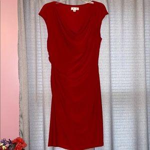 Rouched Cap Sleeve Midi Dress